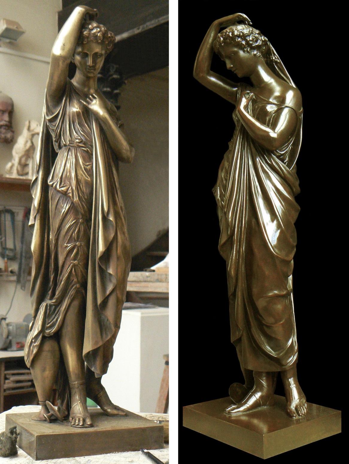 Restauration statue Romaine en bronze Lille