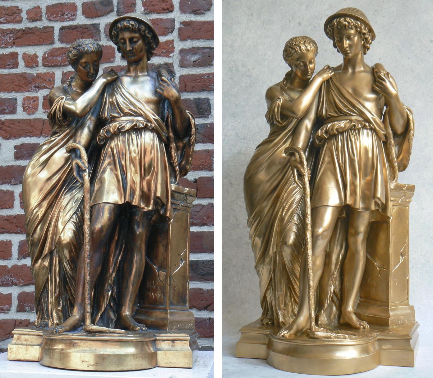 bronze restauration les-bergers-d-arcadie
