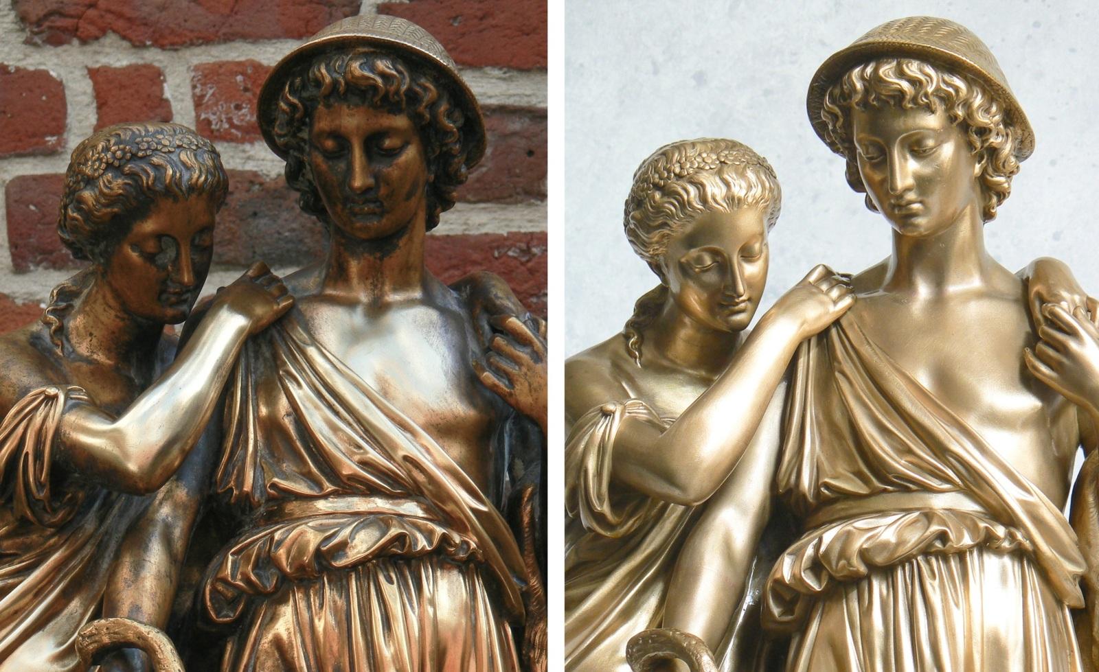 Eugène antoine aizelin restauration piece bronze