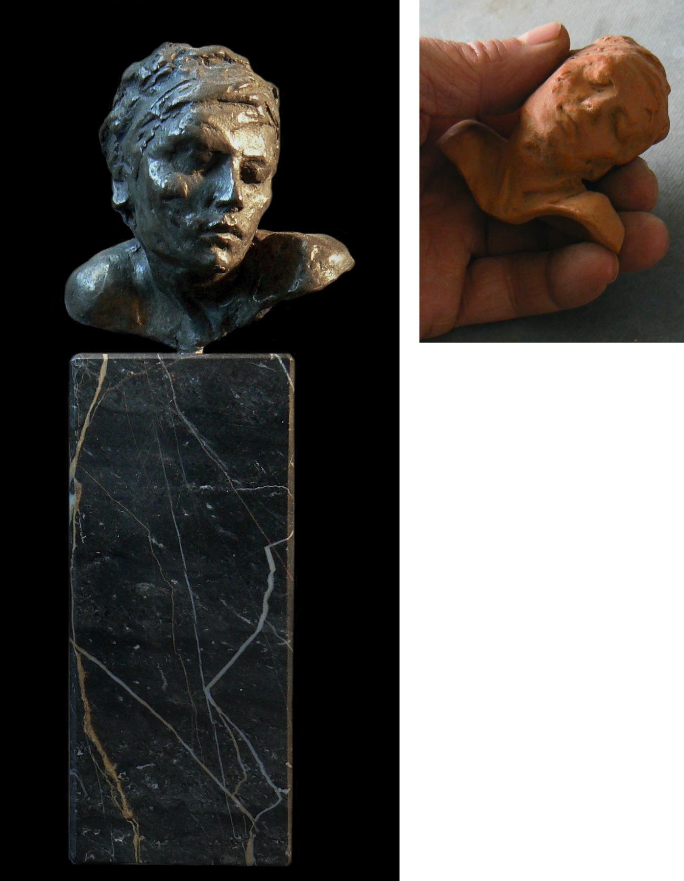 Visage d' Ellenore esquisse en Bronze