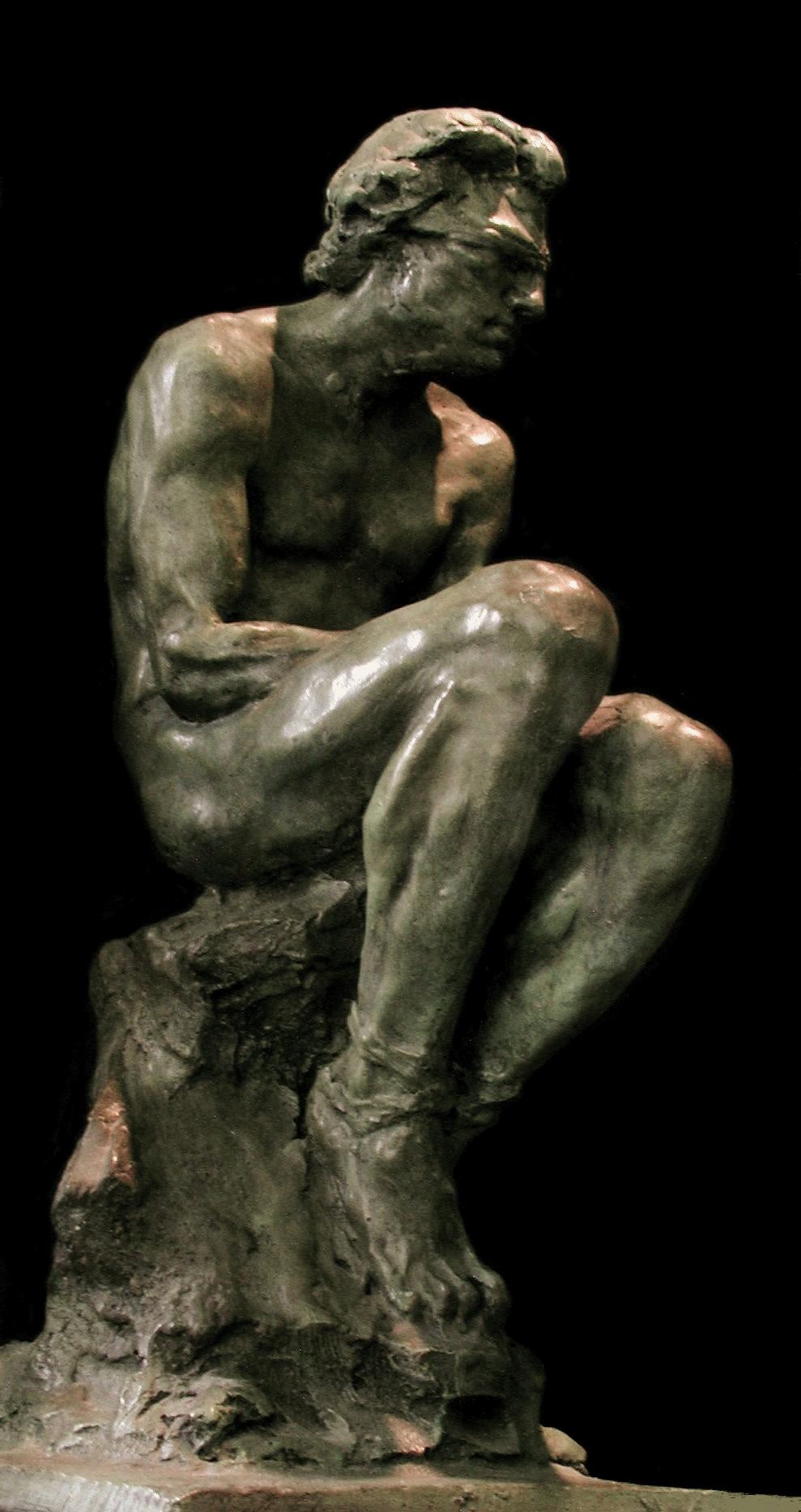 l'otage oeuvre en bronze