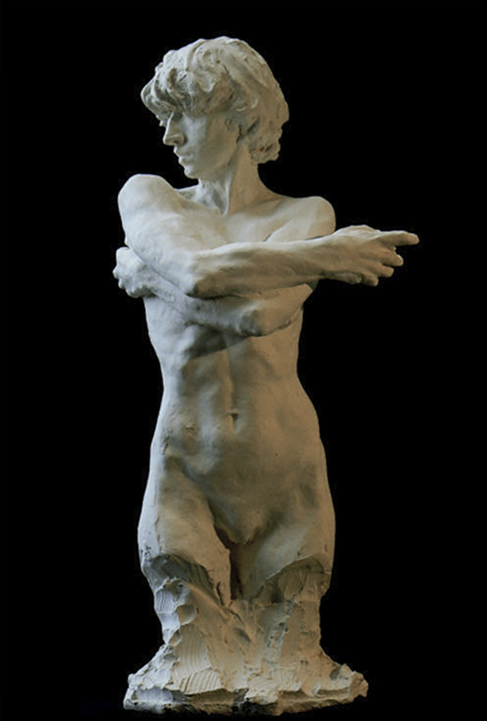 Gaia statue en platre
