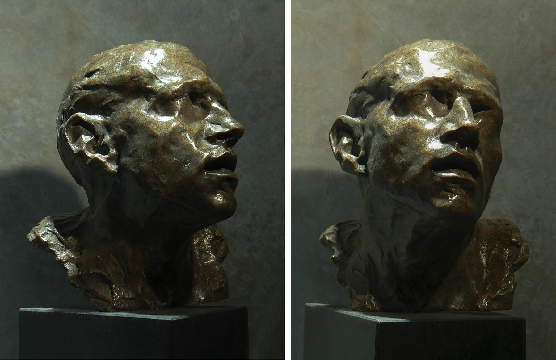 """""""Etude pour un visage d'Orphée Bronze"""